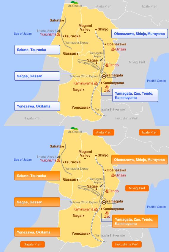 Yamagata Travel Jalan Hotel Booking Site - Japan map yamagata