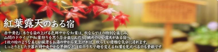 紅葉露天の温泉宿