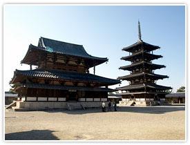 世界最古の建築・法隆寺の「西院伽藍」は国宝づくし