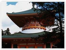見どころ集中の伽藍地区と総本山である「金剛峯寺」