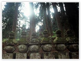杉林と数多の石碑が守る「奥の院」へ続く参道