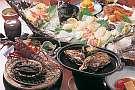 『食道楽コース』伊勢えび・鮑(料理法選択)、舟盛付
