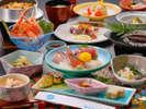 晩夏~秋にかけての「海鮮和食御膳」(一例)