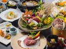 【12~2月愛媛会席イメージ】愛媛産の食材を多く使用した懐石料理をご堪能ください。