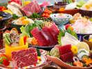 【レストラン/基本会席】メイン鉄板焼きは牛又は魚介からチョイス