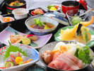 【会席イメージ】その日の旬の食材を使用した基本会席。※季節により内容が異なります