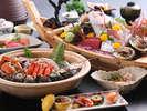 【まんぷく会席】 淡路島の鯛がメイン、牛肉のしゃぶしゃぶもつく、文字通り「まんぷく」になるプラン。