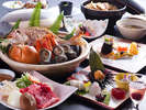 【秋の膳】秋の淡路の鮮魚と山里の幸をメインにちりばめた地産地消の旬のディナーコース。