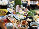 ◆地魚いっぱい会席◆(一例)お造りの魚は鯛やヒラメなどその日によって変わります。