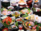 冬の味覚が目白押しのオリジナル会席コース「椿」、ぶりしゃぶやお造りは絶品です!