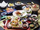 前沢牛・伊勢海老・あわび・ズワイガニの和食膳【2015年3月~】