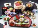 岩手県産牛と八幡平産ブランドポークの和食膳(イメージ)