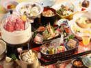 岩手県産牛と八幡平産杜仲茶ポークの和食膳(2017・秋)