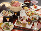 岩手県産牛と八幡平産杜仲茶ポークの和食膳(2018・春)