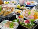 【料理長オススメ会席 ~欲ばり三昧~】熊本ならではの豊かな海の幸も、馬刺しも、お肉もた~っぷり!