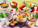 地元食材、季節野菜をふんだんに使った春の「美麗」会席(イメージ)