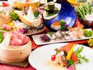 近江牛せいろ蒸しがメインの会席(春のお料理イメージ)