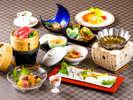 近江牛せいろ蒸しがメインの会席~夏のお料理イメージ