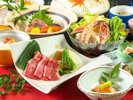近江牛陶板焼きがメインの会席料理(2018冬のイメージ)
