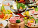 近江牛メインの季節会席 (イメージ)