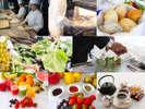 朝食サイドメニュー 【焼立てパン】【地野菜サラダ】【フレッシュジュース・ジャム】は食べ放題♪