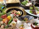 【炭火焼会席】厳選素材の炭火焼と鍋料理と会席をお愉しみください。 ※イメージ-