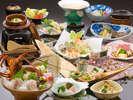 【春彩・旬づくし】旬の魚介類をはじめ、彩りも鮮やかな春の食材を贅沢に取り入れた特選料理。※イメージ-