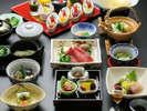 季節感あふれる会席料理。食後には、デザートバイキングをお愉しみください。 ※イメージ
