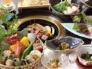 【炭火焼会席】厳選素材の炭火焼と鍋料理と会席をお愉しみください。 ※イメージ