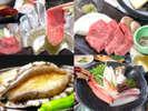 *【メインが選べる!贅沢グルメプラン(イメージ)】季節によって一部食材は変わります。
