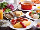 プラザ淡路島の朝食バイキングは40種類以上もの豊富な和洋メニューが自慢≪朝食バイキングイメージ≫