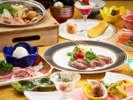 <食事処で和風コース(一例)>大正浪漫の食事処で舌鼓♪メインは肉か魚のお好きな方を♪
