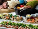 【オーシャンテラス】ブッフェディナー一例(4月30日までオーストラリアニュージーランドフェア)