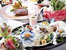 食材に拘り、和洋中専門の料理人が一つ一つ仕上げる会席料理をお楽しみ下さいませ(会席料理イメージ)