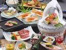 初夏の特撰会席のお料理☆(画像のウニは3名様分です)