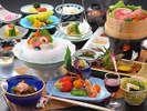 夏の夕食の一例☆山海の旬の味覚をお楽しみ下さい☆彡