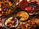 【夕食ブッフェ・9~11月】洞爺野菜や豪快なステーキ、秋の木の実を散りばめた5周年特別ブッフェ。