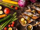 【6~8月限定・夕食ブッフェ】夏野菜や旬の魚介のグリルは香りの良いバジル風味噌でどうぞ。