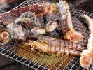 海鮮付き囲炉裏炭火焼きコース(冬季限定)全て料理長厳選の食材ばかりです♪