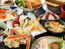 蟹天ぷら・蟹グラタンなど美味しい蟹メニュー満載です!