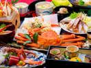 7種のかに料理と姿ずわいがにの【かに尽くし会席】