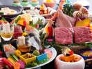 【レストラン/基本会席】柔らかジューシー牛肉の石焼会席(一例)