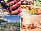 朝食のマグロ解体ショーと握り・和歌山旬の食材豊富な和洋ブッフェ、温泉と絶景バス付きバルコニールーム
