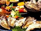 【牡蠣会席】当館はお蔭さまで、よい牡蠣がたっぷり用意できました!いろいろな調理法でお楽しみください♪