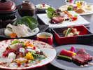秋の真鯛と淡路牛ステーキを味わう創作料理(イメージ)
