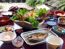 【朝食例】絶品!無農薬の野菜を朝摘みした「壱岐の恵みサラダ」