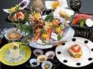 【創作懐石料理】季節の魚貝類を使った料理/写真一例