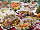 【クリスマスディナービュッフェ】クリスマスの夜を彩る、豪華ディナービュッフェ!