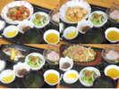 【日替わり夕定食一例】 苦手な食材がございましたら、事前にご連絡下さい。