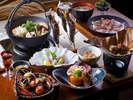 ホテル秘境の湯:夕食は秋の食材をふんだんに使い、視覚、嗅覚、味覚など五感大満足♪